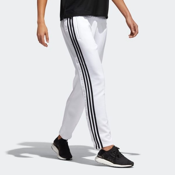 1607628f51 Adidas / Tricot Women's Snap Warm-up Pants - White NWT